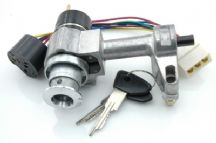Ignition switch assembly for semi automatic cars, LHD + RHD, 9/69>